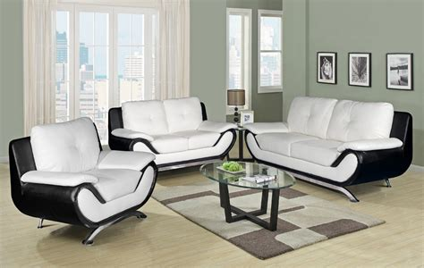 Comfort With Black And White Leather Sofa Eva Furniture