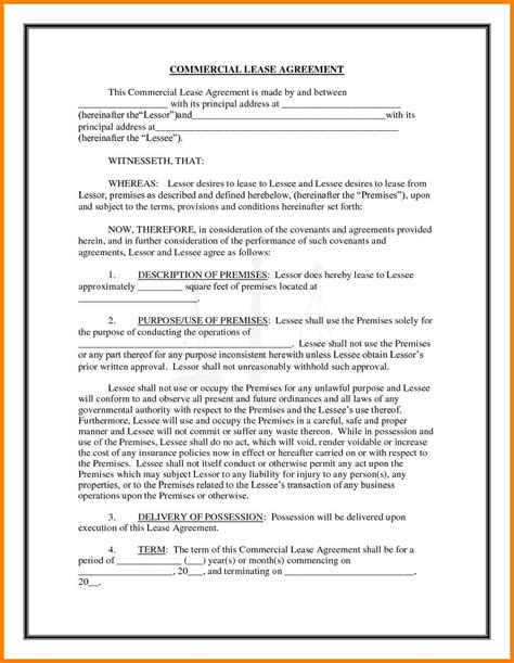 sle lease template sle commercial lease agreement 7 28 images lease to