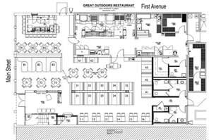 Fast Food Restaurant Floor Plan Design