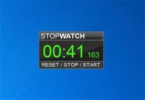 stopwatch windows  gadgets