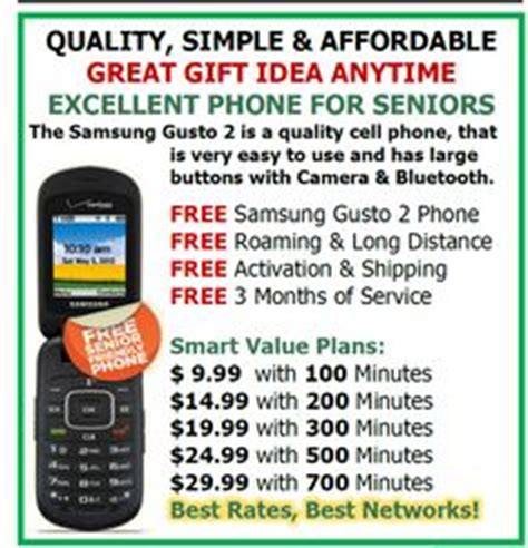 simple affordable reliable senior cell phone plans start