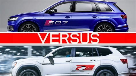 atlas volkswagen r line audi sq7 vs 2018 volkswagen atlas r line youtube