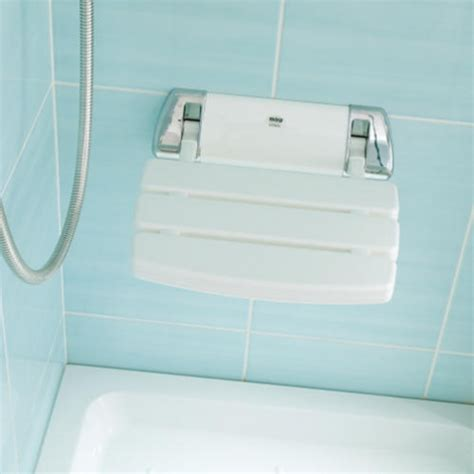 Shower Seat by Mira Shower Seat White Chrome 2 1536 129 Shower Seats