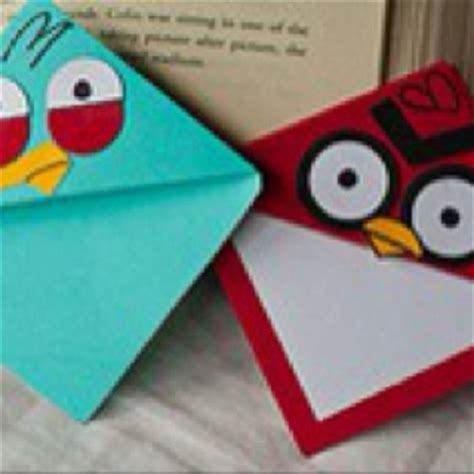 angry birds origami angry birds corner bookmarks paper crafts