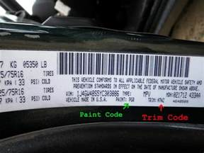how to find paint codes and interior trim codes on your