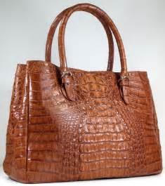 Handbag Hermes 30x17cm Quality Import cognac crocodile skin leather handbags