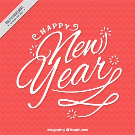 new year writing happy new year writing in vintage style vector