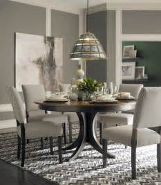 contemporary dining room furniture custom dining 60 quot round pedestal table by bassett furniture contemporary dining room by