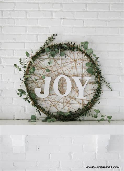 wreath diy 19 minimalist decorations to diy this weekend