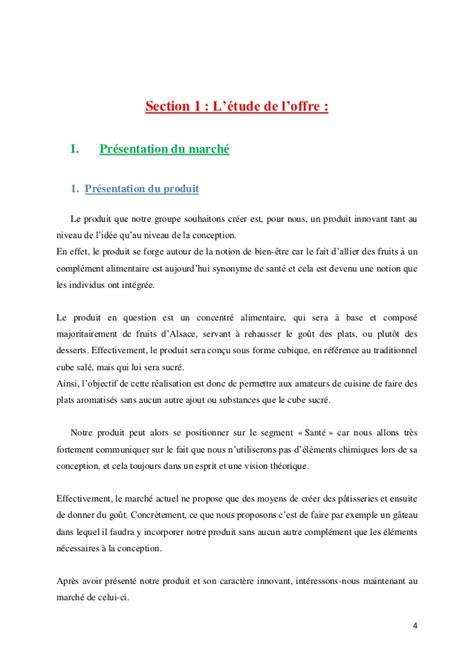 Exemple De Lettre De Présentation De Produit Projet Alinova Commercialisation D Un Produit Alimentaire Innovant
