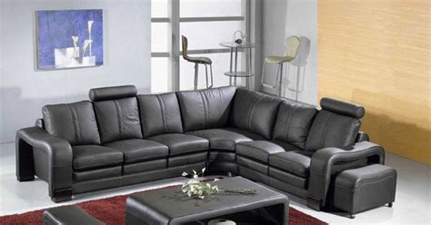 Buy Leather Sectional Sofa How To Buy Black Leather Sofa Modern Black Leather