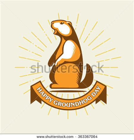 groundhog day logo marmot stock photos royalty free images vectors