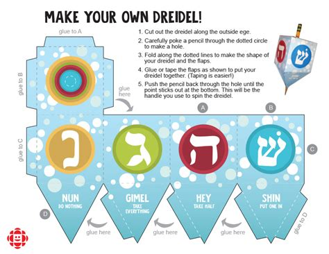 Make A Paper Dreidel - how to play dreidel explore awesome activities
