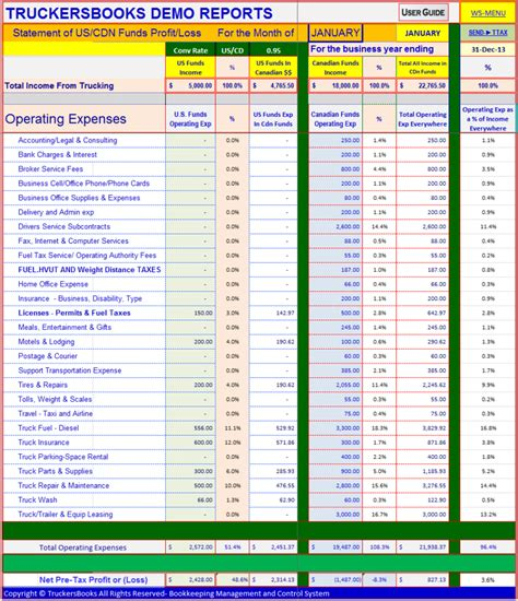 Trucking Spreadshee Natural Buff Dog Trucking Spreadsheet Templates