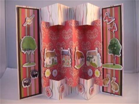 concertina cards templates concertina card