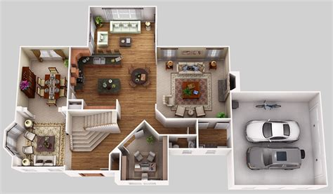 home interior plan floor plans new home 3d color loversiq