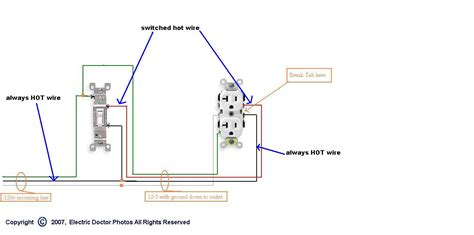 electrical lighting wiring diagrams on switched outlet