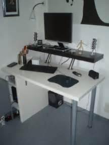 Ikea Hackers Computer Desk Computer Desk With Pc Nook Ikea Hackers Ikea Hackers