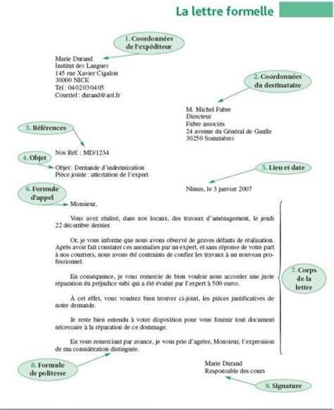 Exemple De Lettre Professionnelle En Francais Letter Of Application Mod 232 Le De Lettre Officielle En Francais