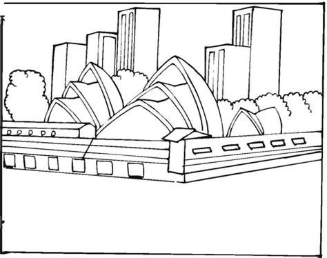 coloring page of sydney opera house sydney opera house coloring page free printable coloring