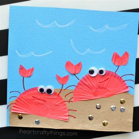 craft activities for toddlers cupcake liner crab craft for i crafty things