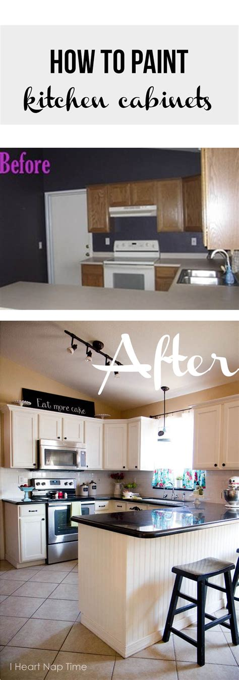 Easy Way To Paint Kitchen Cabinets How To Paint Kitchen Cabinets White I Nap Time I Nap Time Easy Recipes Diy