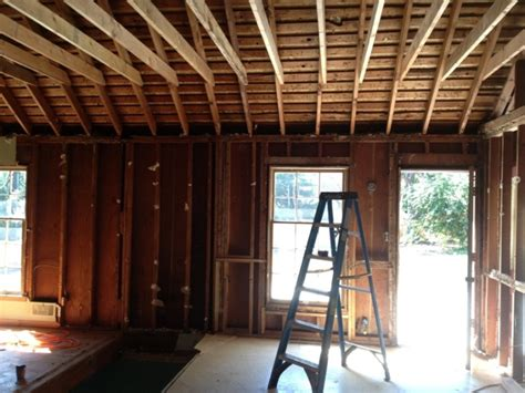 Rafter Ceiling by Temporary Rafter Support For Clipped Ceiling Remodeling