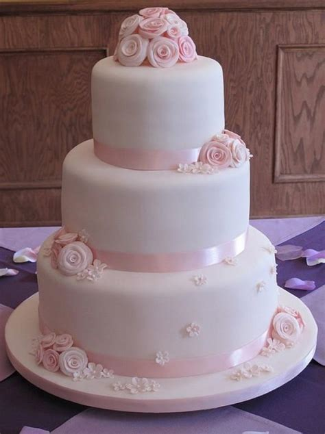 Hochzeitstorte Rosa chic fondant wedding cakes hochzeitstorte design 797273