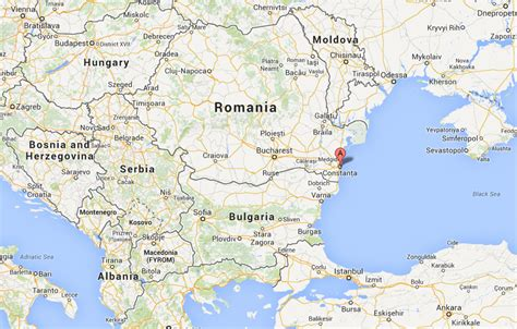 map of romania constanta romania map