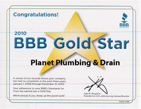 bbb gold award plumbing boulder longmont co