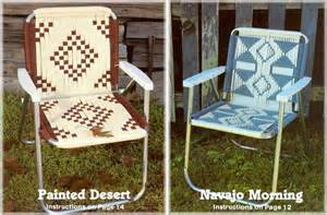 Macrame Lawn Chair by Vintage Macrame Cording Lawn Chairs 14 Southwest Designs