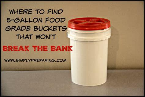 10 gallon food grade 5 gallon food grade buckets simply preparing