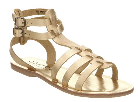 gold leather sandals womens office helena gladiator gold leather sandals size