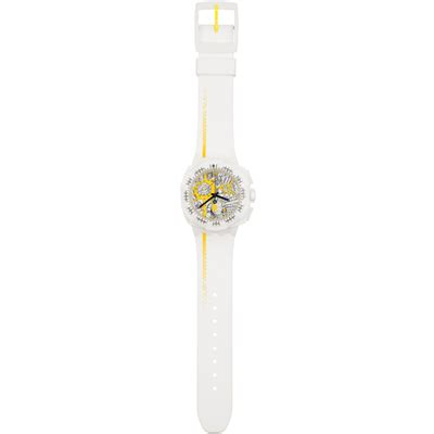 Swatch Chrono Map swatch map yellow suiw410 squiggly