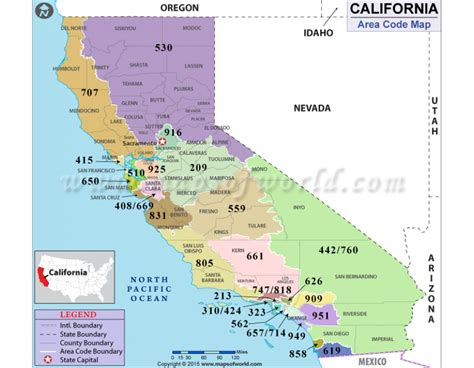 california zip code california area code map