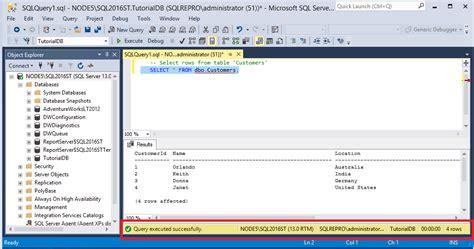 sql query tutorial for sql server tutorial connect and query sql server using sql server