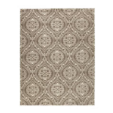 jacquard rug home decorators collection arden mocha 8 ft x 10 ft jacquard area rug 98496 the home depot