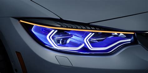 bmw m4 headlights bmw m4 iconic lights concept debuts laser headlights with