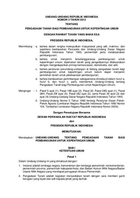 Undang Undang Pemda Pemerintah Daerah Uu Ri No 23 Tahun 2014 undang undang ri no 2 tahun 2012 tentang pengadaan tanah bagi kepen