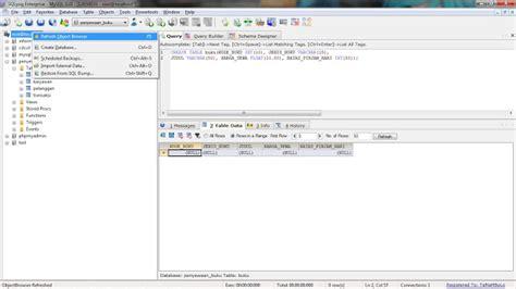 design database adalah membuat database penyewaan buku dengan sqlyog enterprise
