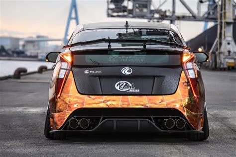 Toyota Hilux Tieferlegen by Tuned 2016 Prius With Exhaust And Leather Wrap Looks