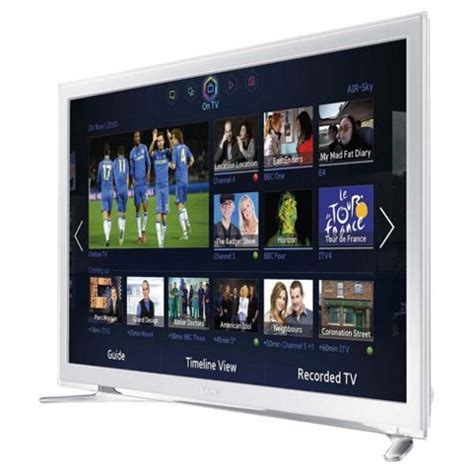 Led Tv Samsung 32 Inch White buy samsung ue32f4510 32 inch smart wifi built in hd ready 720p led tv with freeview hd white
