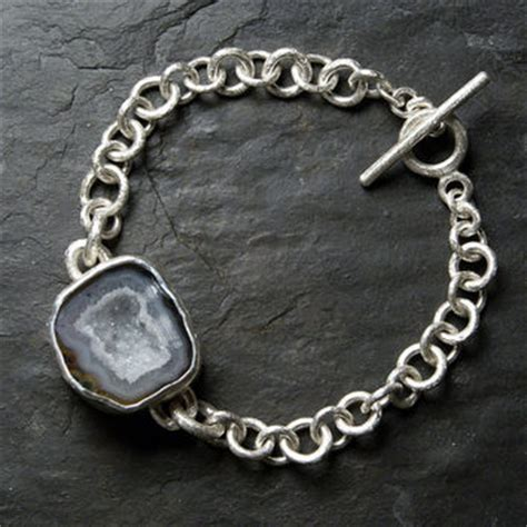 Tutu And Co Gray Agate Bracelet best geode bracelet products on wanelo