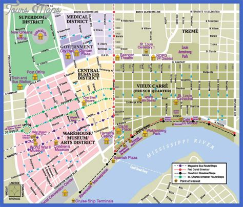 map us new orleans new orleans map tourist attractions toursmaps