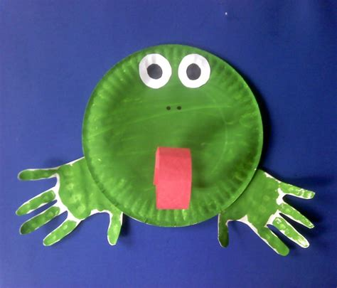 Frog With Paper - 15 paper plate animal crafts for children reliable