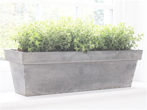 Window Sill Garden Planters Silver Galvanised Trough Planter Plant Garden Pation