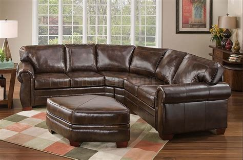 what is bonded leather sofa tobacco bonded leather classic sectional sofa w ottoman