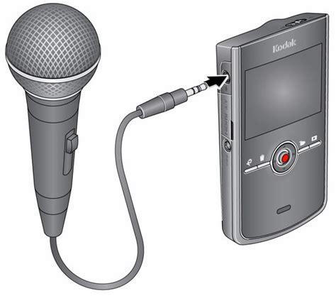 videocamera ingresso microfono uso di un microfono stereo esterno
