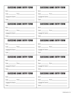 Contest Entry Form Template Pictures To Pin On Pinterest Pinsdaddy Entry Ballot Template