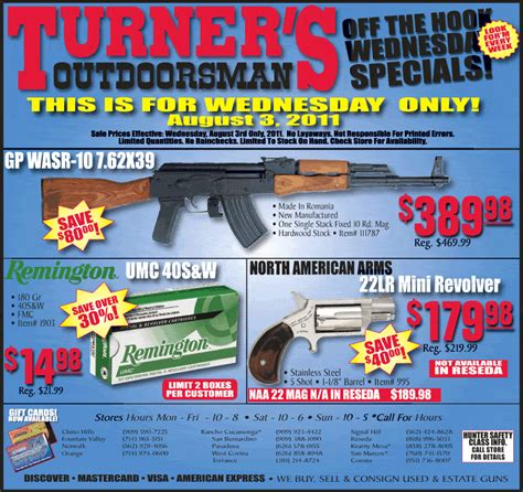 Turners Gun Rack by Turner S Wednesday August 3rd Specials California Only Ak 47 Gp Wasr 10 For 389 Slickguns